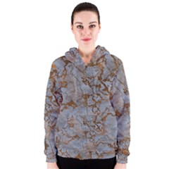 Marbled Lava Orange Women s Zipper Hoodies