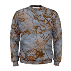 Marbled Lava Orange Men s Sweatshirts