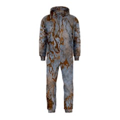 Marbled Lava Orange Hooded Jumpsuit (Kids)