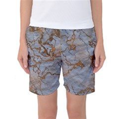 Marbled Lava Orange Women s Basketball Shorts