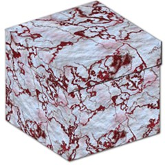 Marbled Lava Red Storage Stool 12