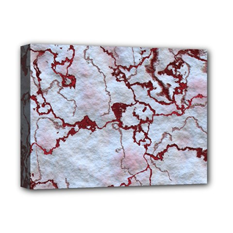 Marbled Lava Red Deluxe Canvas 16  x 12