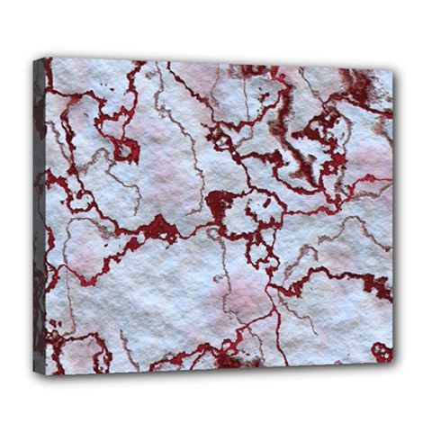 Marbled Lava Red Deluxe Canvas 24  x 20