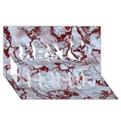 Marbled Lava Red Best Friends 3d Greeting Card (8x4)