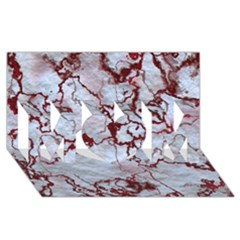 Marbled Lava Red Mom 3d Greeting Card (8x4)