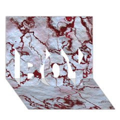 Marbled Lava Red Boy 3d Greeting Card (7x5)