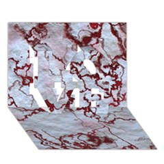 Marbled Lava Red LOVE 3D Greeting Card (7x5)