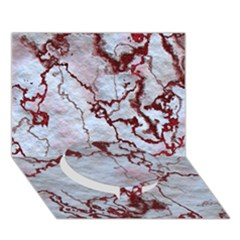 Marbled Lava Red Circle Bottom 3d Greeting Card (7x5)