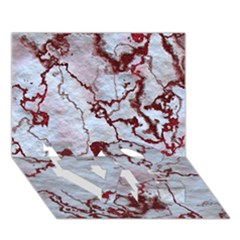 Marbled Lava Red Love Bottom 3d Greeting Card (7x5)