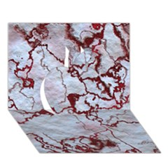 Marbled Lava Red Apple 3d Greeting Card (7x5)