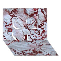 Marbled Lava Red Clover 3d Greeting Card (7x5)
