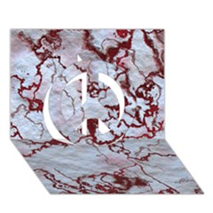Marbled Lava Red Peace Sign 3D Greeting Card (7x5)