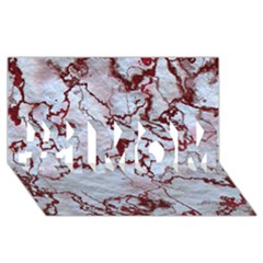 Marbled Lava Red #1 MOM 3D Greeting Cards (8x4)