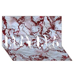 Marbled Lava Red Best Bro 3d Greeting Card (8x4)