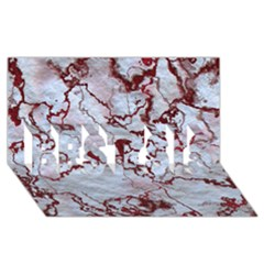Marbled Lava Red BEST SIS 3D Greeting Card (8x4)