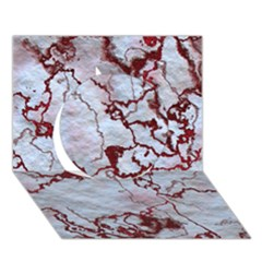 Marbled Lava Red Circle 3D Greeting Card (7x5)
