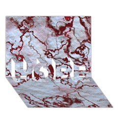 Marbled Lava Red HOPE 3D Greeting Card (7x5)
