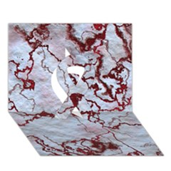 Marbled Lava Red Ribbon 3D Greeting Card (7x5)