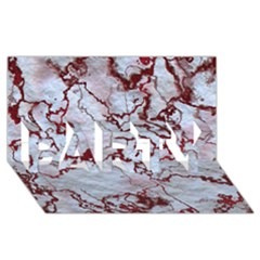Marbled Lava Red PARTY 3D Greeting Card (8x4)
