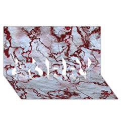 Marbled Lava Red Sorry 3d Greeting Card (8x4)