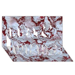 Marbled Lava Red Best Wish 3D Greeting Card (8x4)