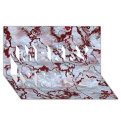 Marbled Lava Red Merry Xmas 3D Greeting Card (8x4)