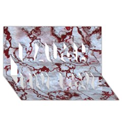 Marbled Lava Red Laugh Live Love 3d Greeting Card (8x4)