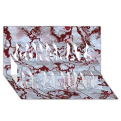 Marbled Lava Red Congrats Graduate 3D Greeting Card (8x4)