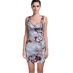 Marbled Lava Red Bodycon Dresses