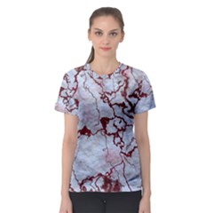 Marbled Lava Red Women s Sport Mesh Tees