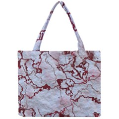Marbled Lava Red Tiny Tote Bags
