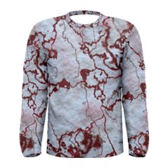Marbled Lava Red Men s Long Sleeve T Shirts