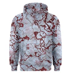 Marbled Lava Red Men s Pullover Hoodies