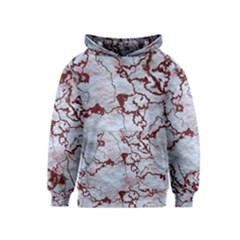 Marbled Lava Red Kid s Pullover Hoodies