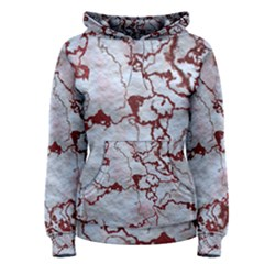 Marbled Lava Red Women s Pullover Hoodies