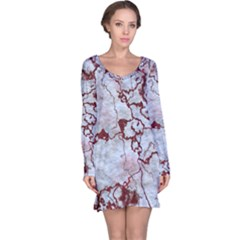Marbled Lava Red Long Sleeve Nightdresses