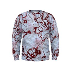Marbled Lava Red Boys  Sweatshirts