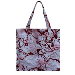 Marbled Lava Red Zipper Grocery Tote Bags