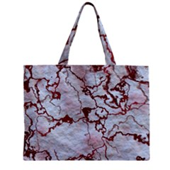 Marbled Lava Red Zipper Tiny Tote Bags