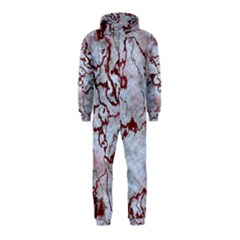 Marbled Lava Red Hooded Jumpsuit (kids)