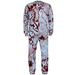 Marbled Lava Red OnePiece Jumpsuit (Men)
