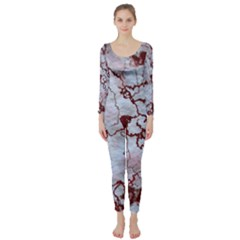 Marbled Lava Red Long Sleeve Catsuit