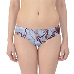 Marbled Lava Red Hipster Bikini Bottoms
