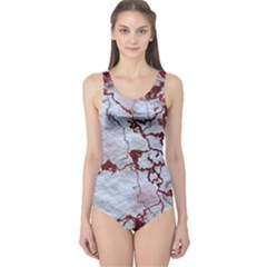 Marbled Lava Red Women s One Piece Swimsuits