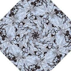 Marbled Lava White Black Folding Umbrellas