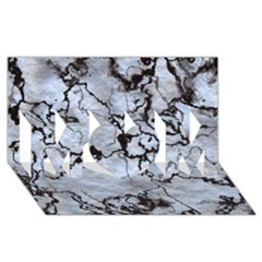 Marbled Lava White Black MOM 3D Greeting Card (8x4)