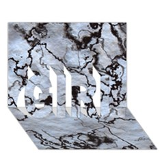 Marbled Lava White Black GIRL 3D Greeting Card (7x5)