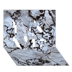 Marbled Lava White Black LOVE 3D Greeting Card (7x5)