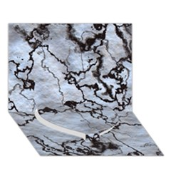 Marbled Lava White Black Heart Bottom 3D Greeting Card (7x5)