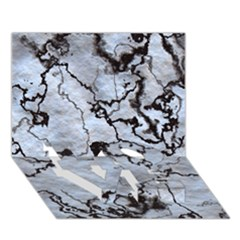 Marbled Lava White Black LOVE Bottom 3D Greeting Card (7x5)